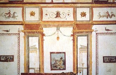 Domus_Aurea. Золотой дом императора Нерона. Сохранившаяся часть росписи в подвальном помещении