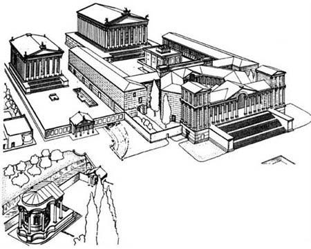 Реконструкция плана храмового комплекса в г. Баальбек (Гелиополь), Сирия