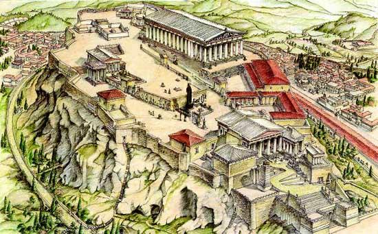 Афинский акрополь V в. до н.э.