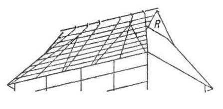 Конструктивные приёмы в архитектуре Китая и Японии. Конструкции из бамбука. Кровля