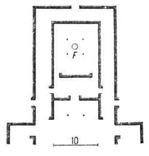 Архитектурные памятники Древней Персии. План алтаря в Персеполе