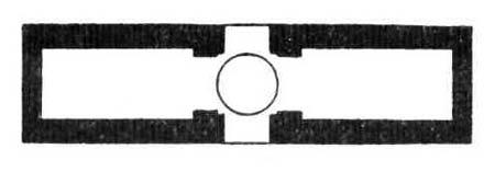 Архитектурные памятники Древней Персии. План помещений в Таг-Эйване