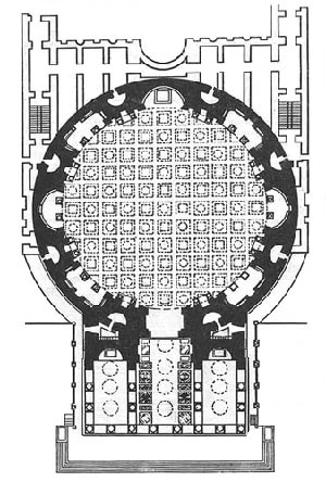 Пантеон, план