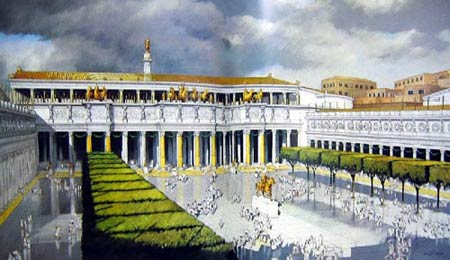 Форум Траяна, реконструкция общего вида