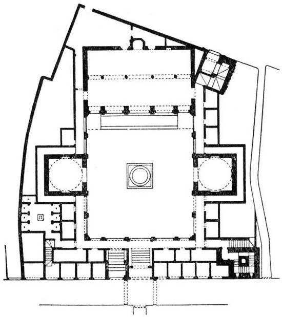 Медресе Бу Анания в Фесе. План