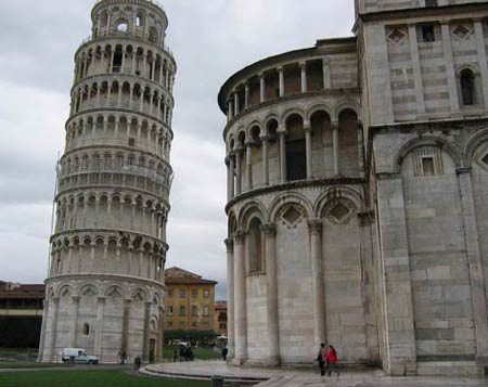 Пизанская башня (Torre pendente di Pisa) и Кафедральный собор Санта-Мария Маджоре , Пиза, Италия, начало строительства 1173 год