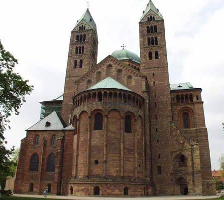 Кайзерский собор в Шпейере, Германия (1030-1092-1106)