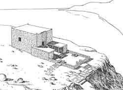 Предварительная реконструкция храма на вершине Хисн аль-Гураба