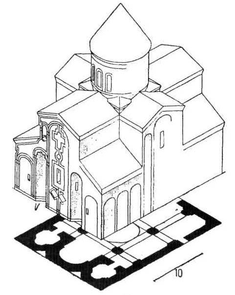 Церковная архитектура IV - X веков. План Армянской церкви