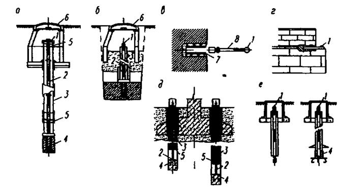 Схемы реперов и деформационных