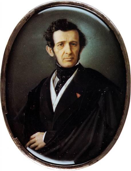 Портрет Андрея Ивановича Штакеншнейдера кисти А. П. Брюллова (1798-1877)