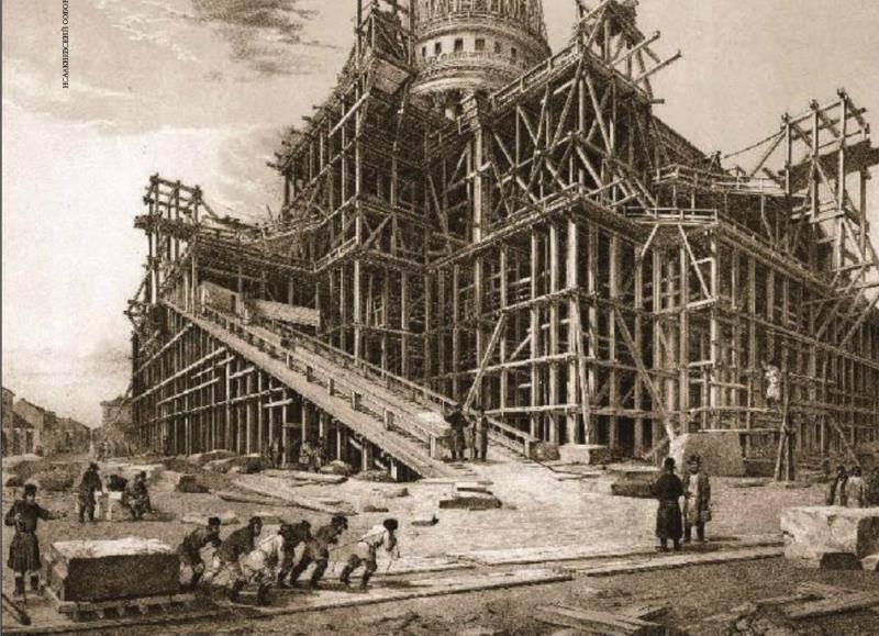 Изображение из альбома «Исаакиевский собор» О. Монферрана, 1845 г.