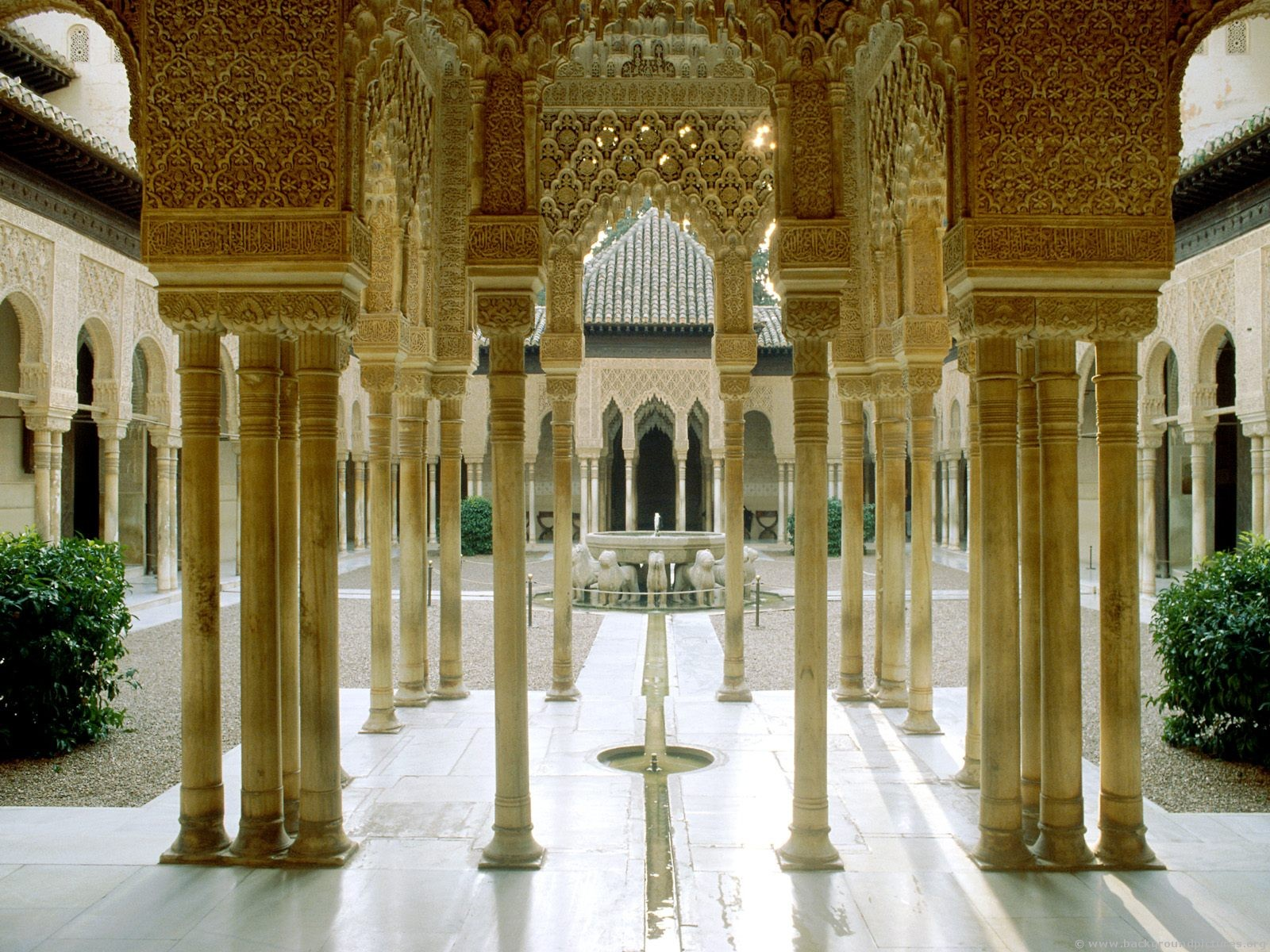 Внутренняя территория Альгамбры, Гранада