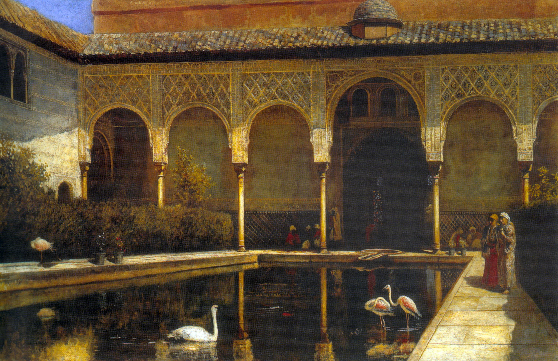 """""""Дворик Альгамбры во времена мавров"""", Эдвин Лорд Уикс, 1876"""
